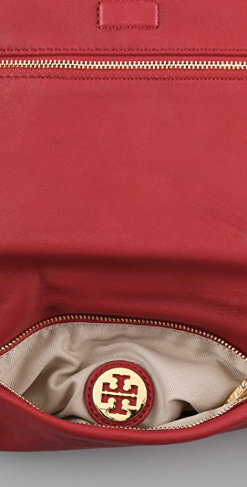 Tory Burch Stacked Logo Reva Clutch