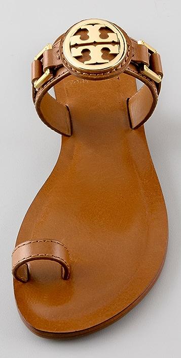 Tory Burch Calista Logo Flat Sandals