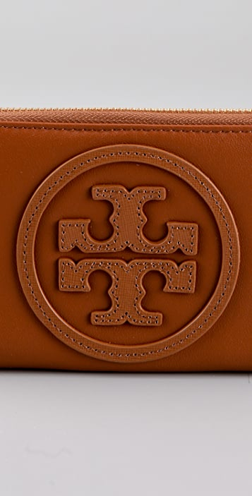 Tory Burch Stacked Logo Zip Continental Wallet