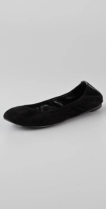 Tory Burch Eddie Nubuck Ballet Flats