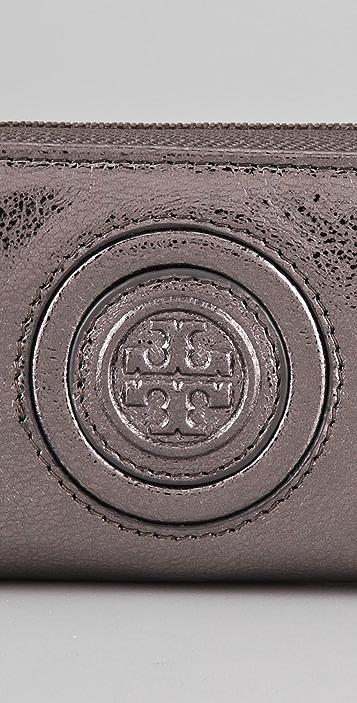 Tory Burch Vintage Metallic Zip Coin Case