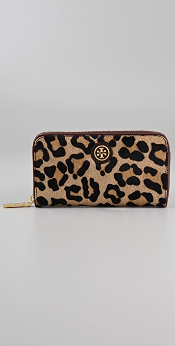 Tory Burch City Haircalf Zip Continental Wallet