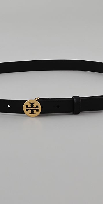 Tory Burch Skinny Logo Belt