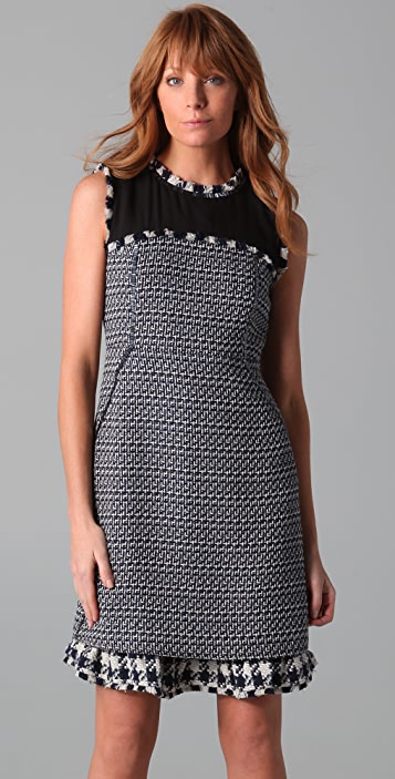 Tory Burch Judy Tweed Shift Dress