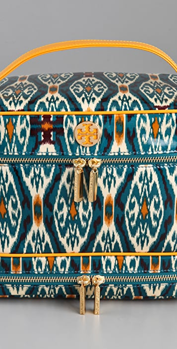 Tory Burch Ikat Double Zip Train Case