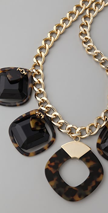 Tory Burch Resin Square Necklace