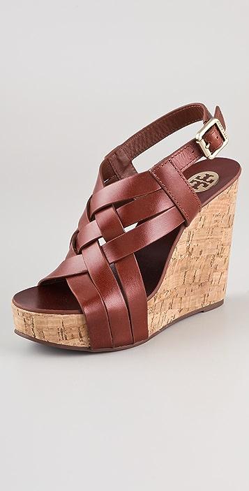5020db0bd833 Tory Burch Ace High Wedge Sandals
