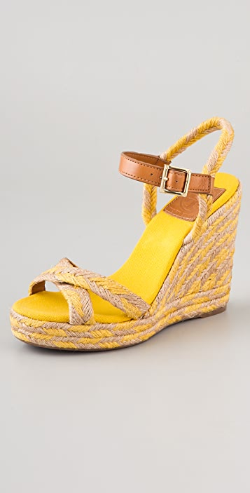Tory Burch Camelia High Wedge Espadrilles