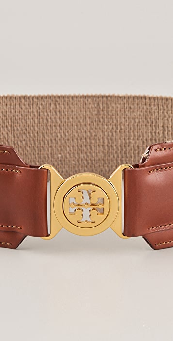 Tory Burch Metallic Logo Waist Belt