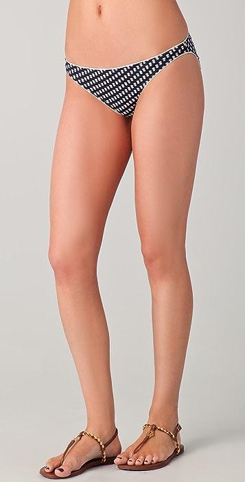 Tory Burch Print Hipster Bikini Bottoms