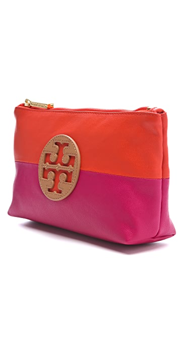 Tory Burch Dipped Canvas Small Cosmetic Case