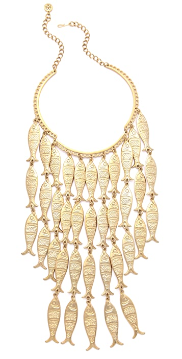 Tory Burch Fish Necklace