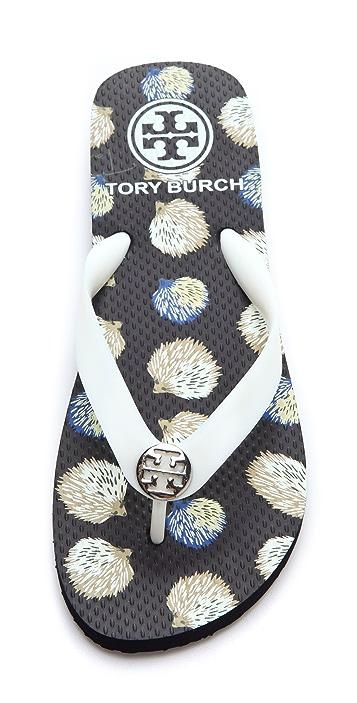 Tory Burch Logo Flip Flops