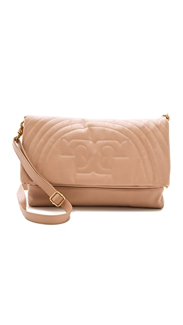 Tory Burch Stitched Logo Messenger Bag