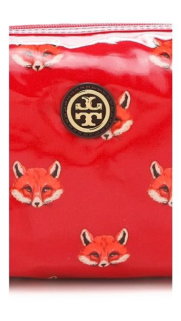 Tory Burch Foxy Printed Brigitte Cosmetic Case