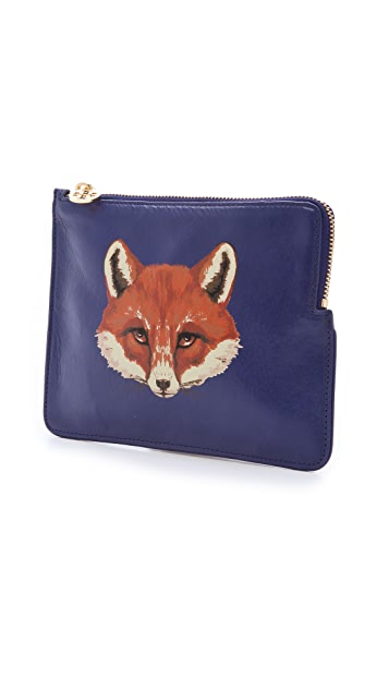 Tory Burch Vachetta Large Fox Pouch