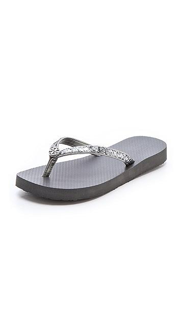 Tory Burch Adia Metallic Flip Flops