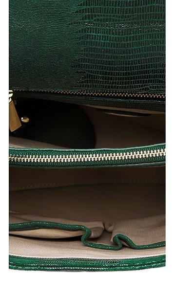 Tory Burch Lizard Medium Resin Top Bag