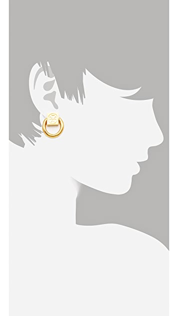 Tory Burch Varden Circle Earrings