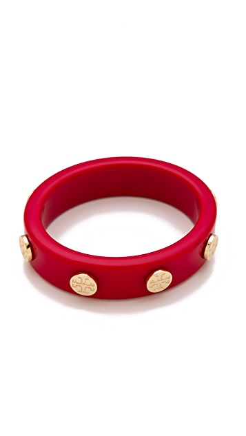 Tory Burch Resin Logo Stud Bangle