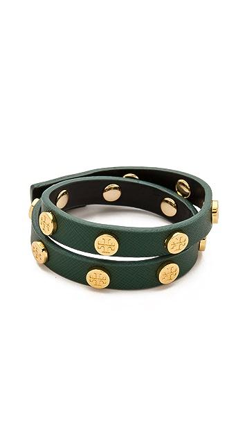 Tory Burch Logo Stud Wrap Bracelet