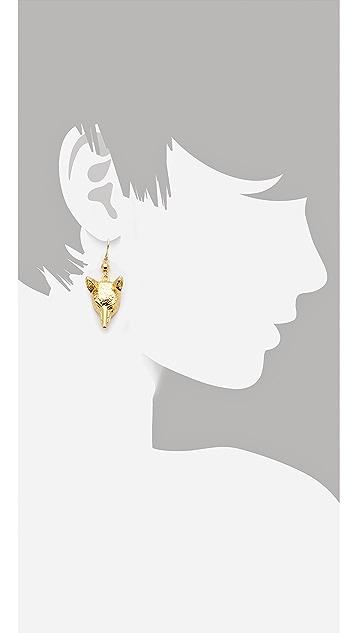 Tory Burch Fox Head Earrings