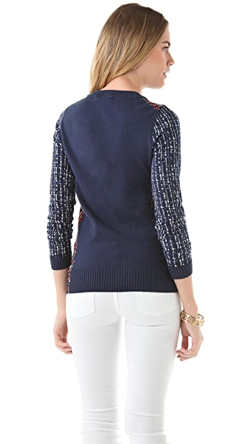 Tory Burch Hutton Crew Neck Sweater