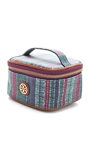 Tory Burch Baja Stripe Mini Train Case