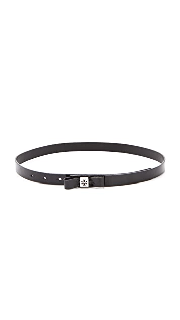 Tory Burch Patent Bow Belt