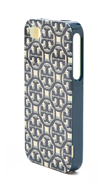 Tory Burch Logo Lattice Hardshell iPhone Case