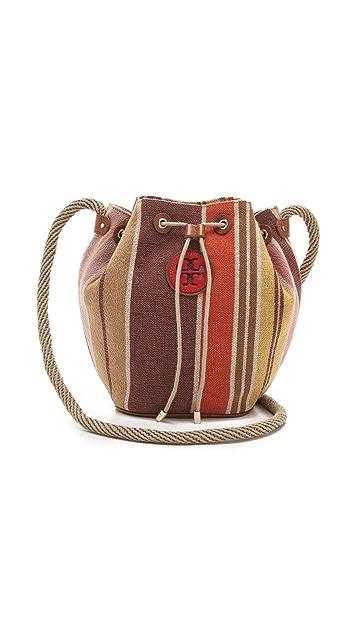 Tory Burch Baja Stripe Drawstring Bag