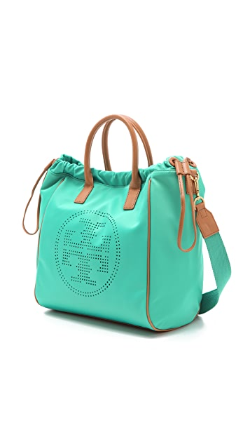Tory Burch Small Nylon Drawstring Tote