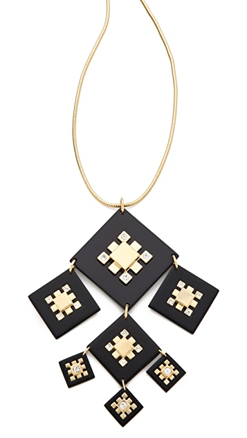 Tory Burch Geo Pendant Necklace
