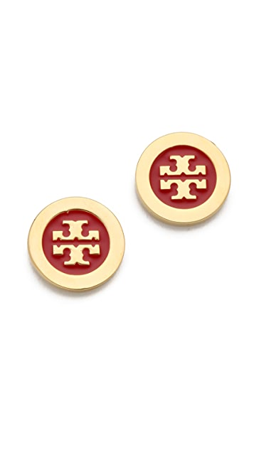 Tory Burch Enamel Stud Earrings