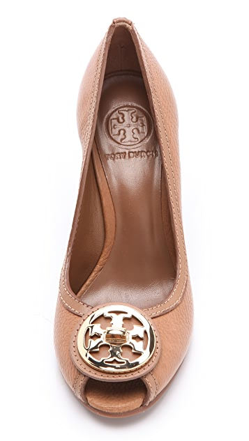 Tory Burch Selma Peep Toe Wedges
