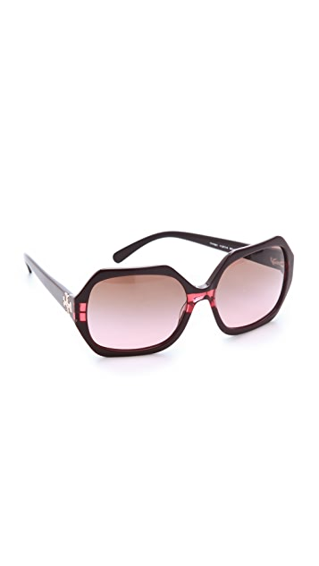 Tory Burch Oversized Glam Sunglasses