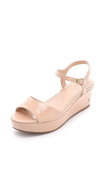 Tory Burch Abena Wedge Sandals