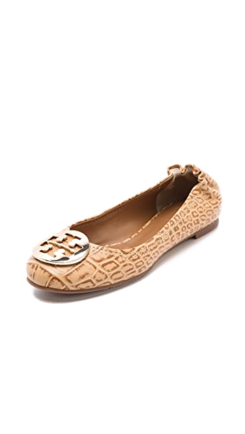 d8d42d37d7f8 Tory Burch Reva Croc Ballet Flats