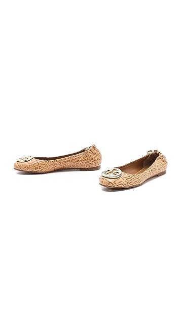 856b7d5cba1a ... Tory Burch Reva Croc Ballet Flats