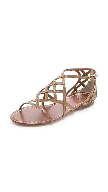 665eb7a852a38 Tory Burch Amalie Flat Sandals