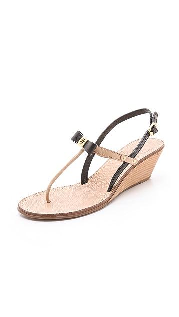 4de6bda9c758 Tory Burch Kailey Wedge Thong Sandals