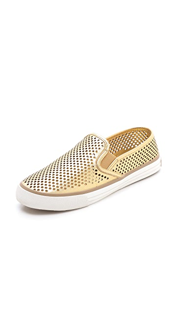 Tory Burch Miles Perforated Sneakers ...