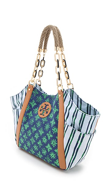 Tory Burch Karlya Mix Print Tote