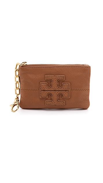 Tory Burch Stacked T Zip Coin Wallet