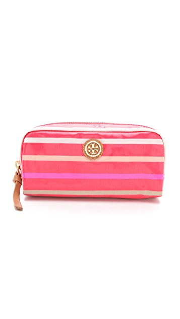 Tory Burch Striped EW Cosmetic Case
