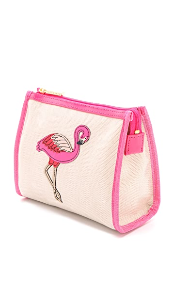 Tory Burch Flamingo Taryn Cosmetic Case