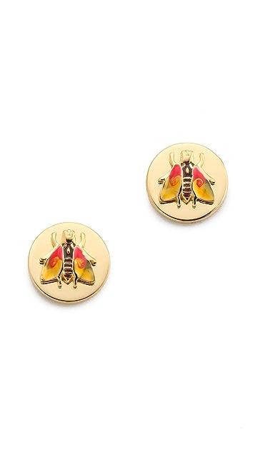 Tory Burch Buddy Bee Post Earrings