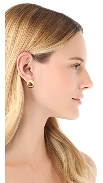 Tory Burch Buddy Bee Post Earrings