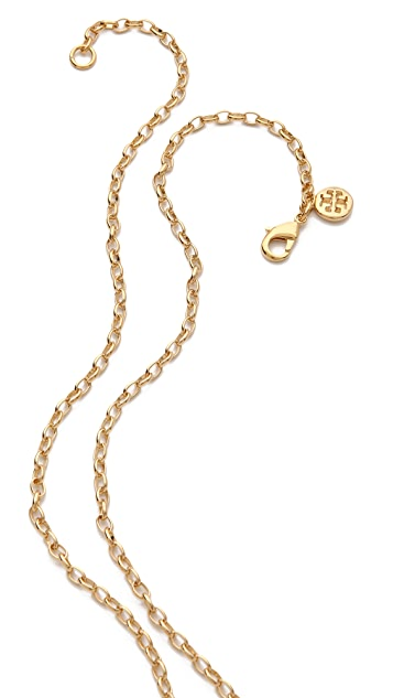 Tory Burch Shawn Cluster Necklace