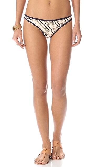 Tory Burch Roger Stripe Bikini Bottoms